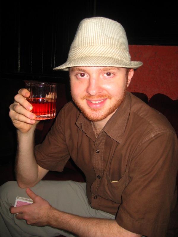 drinking alomo bitters in Ghana