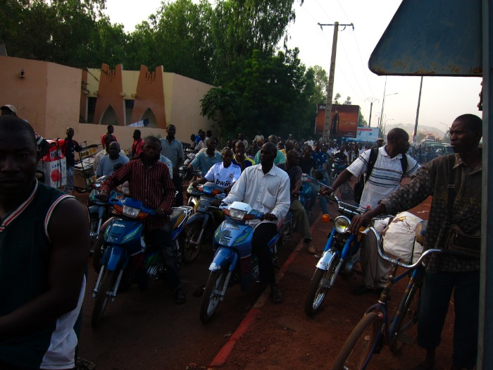 moto traffic in Bamako, Mali