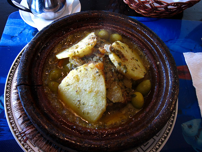 eating tajine in morocco