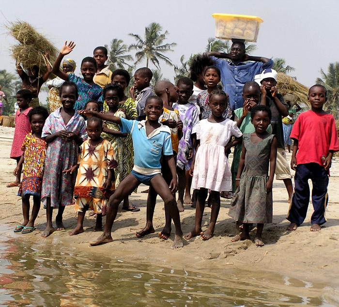 kids in kokrobite ghana